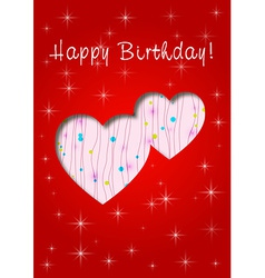 happy birthday whit love vector image