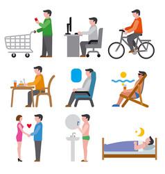Human life icons vector