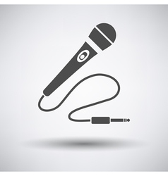 Karaoke microphone icon vector