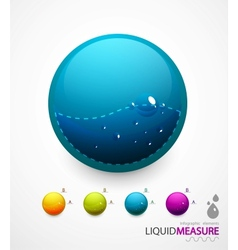 Liquid measure elements vector