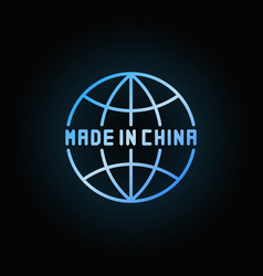 made in china globe icon vector image
