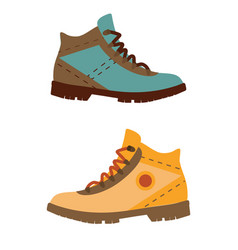 man hiking boots vector image