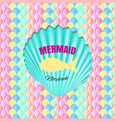 Mermaid tail scales seamless pattern for trendy vector