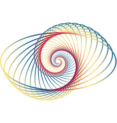 Multi coloured abstract fractal spiral vector
