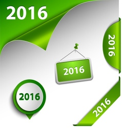 New Year green card web design elements vector