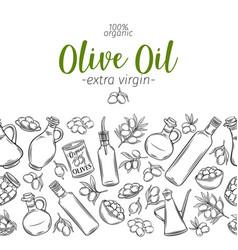olive oil sketch design vector image