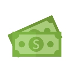 Paper dollar stack vector image
