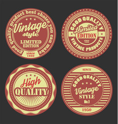 pastel color vintage labels collection 6 vector image