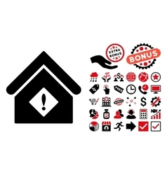 Problem Building Flat Icon with Bonus vector image vector image