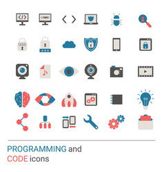 programming icon set vector image