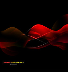 Red colors motion scene vector