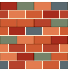 Red Orange Green Brick Wall vector