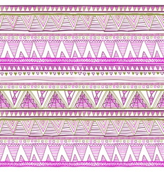 Seamless ethnic background Geometric bright vector image
