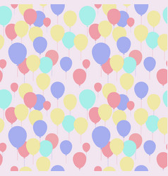 seamless pattern with repeating pink balloons vector image
