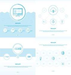 Set 4 item Design Concept office blue color vector