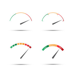Set of four simple color tachometers vector