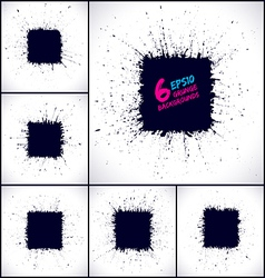 Set of grunge business backgrounds vector image vector image