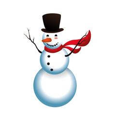 Snowman cartoon isolated vector
