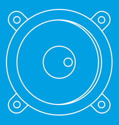 Sound speaker dynamic icon outline style vector