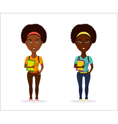 student girl character vector image