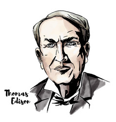 Thomas edison vector