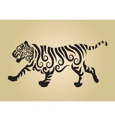 Tiger ornament decoration vector