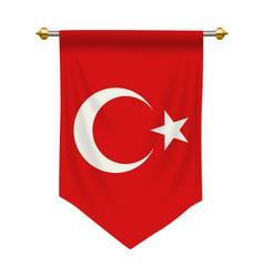 Turkey pennant vector