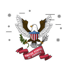usa patriotic emblem vector image