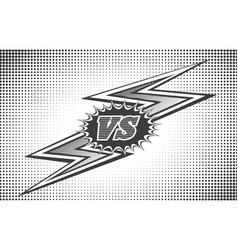 Versus letters background in retro style vector