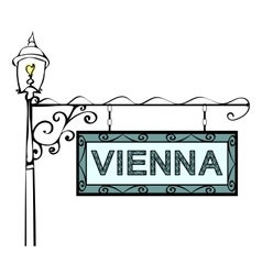 Vienna retro vintage lamppost pointer vector