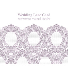 vintage delicate lace card retro dotted handmade vector image vector image
