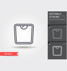 weight scale line icon with editable stroke with vector image