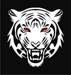 White Tiger Face vector