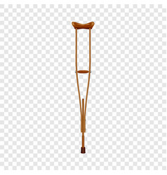 wood crutch icon realistic style vector image