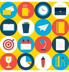 Yellow Tile Office Background with Circles vector