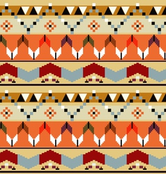Abstract seamless pattern with Mexican drawing vector image