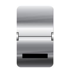Alphabet silver flipboard letters underscore vector image vector image