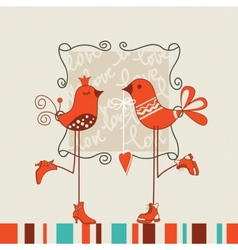 birds romantic date vector image vector image