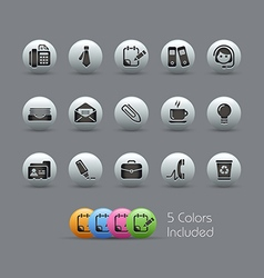 Office Business Icons Pearly Series vector image vector image