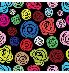 Pink rose seamless flower background patter vector image vector image