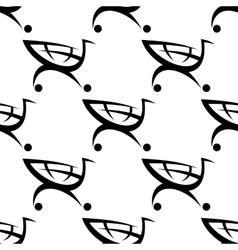 Shopping cart seamless pattern vector image vector image