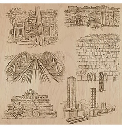 Architecture - hand drawn pack vector