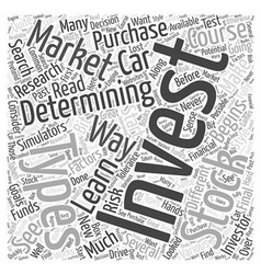 Determining where you will invest word cloud vector