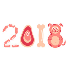 dog is a symbol of the new year vector image vector image