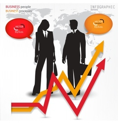 Modern design banners with business people vector image