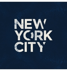 New york city typography t-shirt graphics vector image vector image