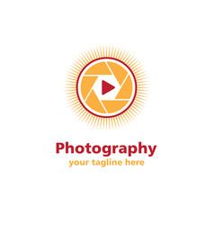Photography sun business logo vector