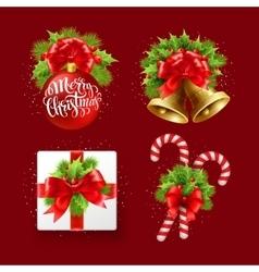 Christmas sign set vector image