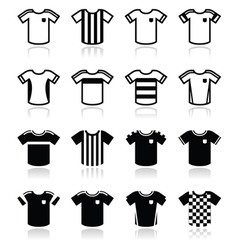 Football or soccer jerseys icons set vector image vector image
