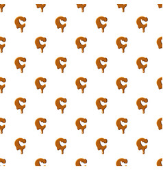 Letter c from caramel pattern vector